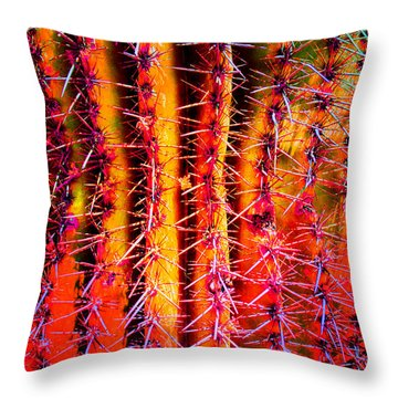 Throw Pillow featuring the mixed media Scottsdale Saguaro by Michelle Dallocchio
