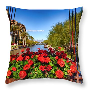 Scottsdale Waterfront Throw Pillow by Fred Larson