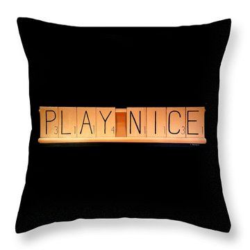Scrabble Throw Pillow