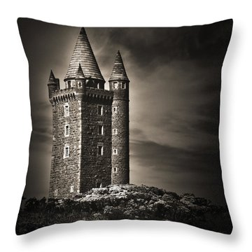 Throw Pillow featuring the photograph Scrabo Tower Newtownards County Down by Jane McIlroy
