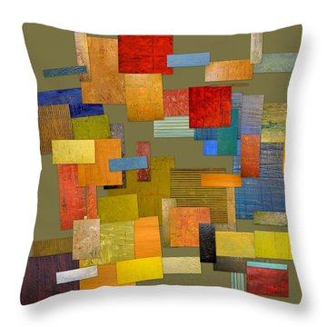 Scrambled Eggs Ll Throw Pillow by Michelle Calkins