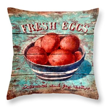 Scrambled Or Fried Throw Pillow