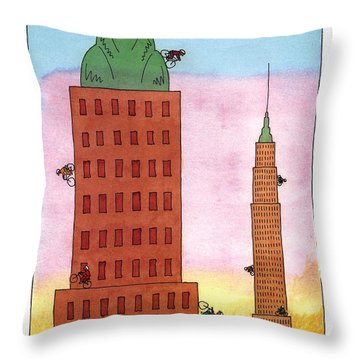 'scraper Biking Throw Pillow