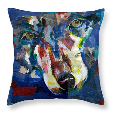 Scraps Of Survival Throw Pillow by Lovejoy Creations