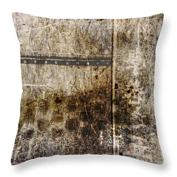 Scratched Metal And Old Books Number 2 Throw Pillow