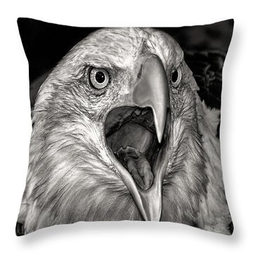 Screamin Eagle Throw Pillow