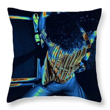 Screaming Guitar Throw Pillow by Ben Upham
