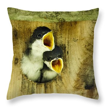 Screaming Hungry Throw Pillow