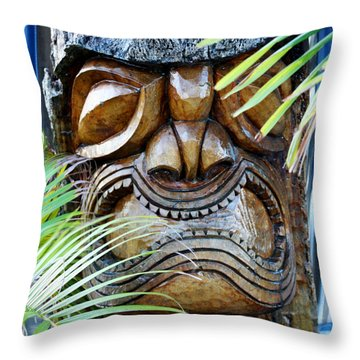 Screaming Tiki  Throw Pillow