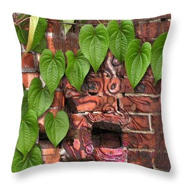 Screaming Wall Throw Pillow