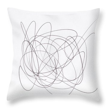Scribble For 'chief Wahoo' Throw Pillow