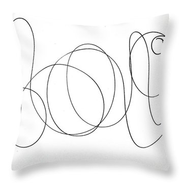 Scribble For Luv Throw Pillow