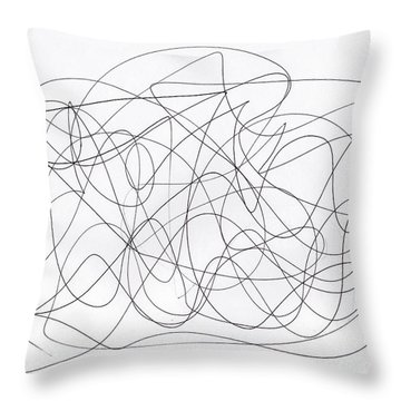 Scribble For 'running Errands' Throw Pillow