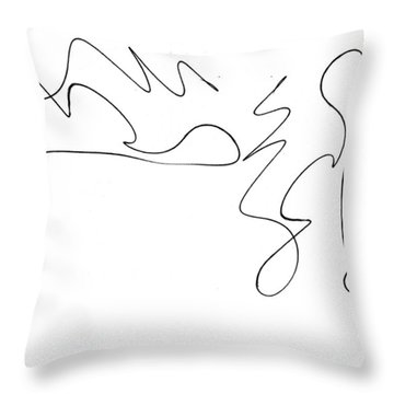 Scribble For There's No Turning Back Now Throw Pillow