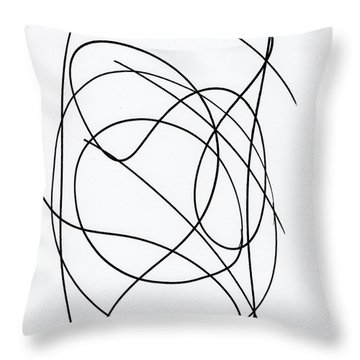 Scribble For Up On The Hill At Barton Springs Throw Pillow