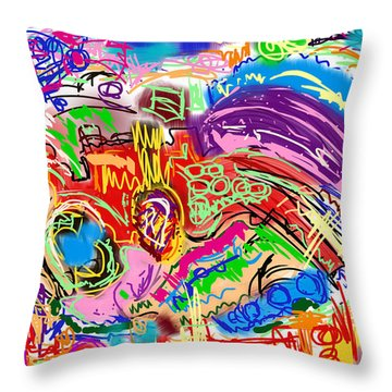 Scribble Throw Pillow by Gerry Robins