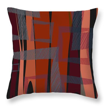Scribbled Pop Throw Pillow by Matt Lindley