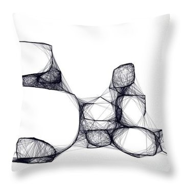 Scribrocks Throw Pillow