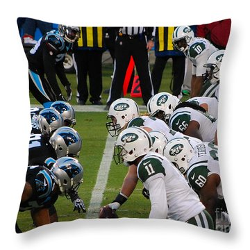 Scrimmage Line Throw Pillow