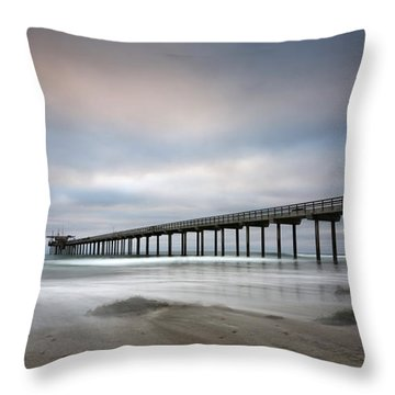 Scripps Pier Wide -lrg Print Throw Pillow
