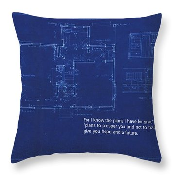 Scripture And Picture Jeremiah 29 11 Throw Pillow by Ken Smith