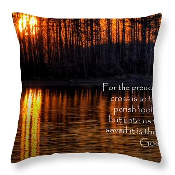 Scripture Photo Throw Pillow