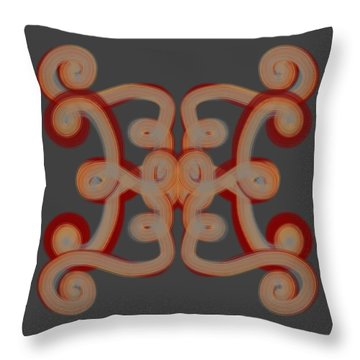 Throw Pillow featuring the digital art Scroll by Christine Fournier