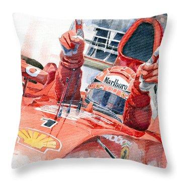 2001 Scuderia Ferrari Marlboro F 2001 Ferrari 050 M Schumacher  Throw Pillow