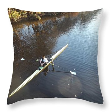 Sculling The Firth II Throw Pillow