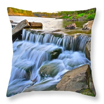 Sculpted Falls Throw Pillow by Frozen in Time Fine Art Photography