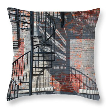 Sculptural Architecture 3 Throw Pillow by Mary Bedy