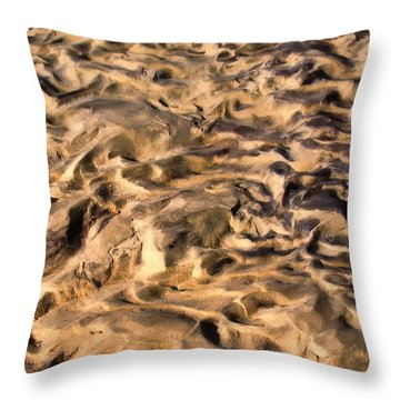 Sculpture By The Tide Throw Pillow
