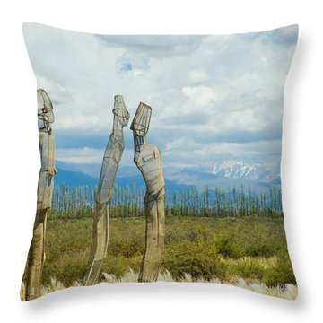 Sculpture In The Andes Throw Pillow