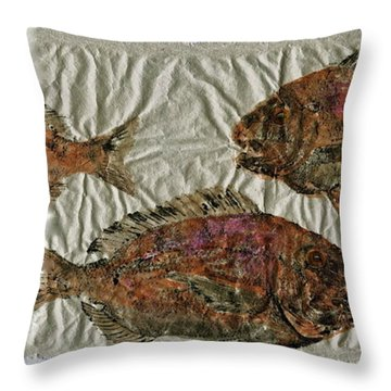 Scup On Rice Paper Throw Pillow