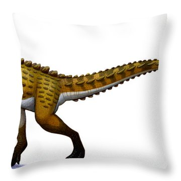 Scutellosaurus, An Early Jurassic Throw Pillow by H. Kyoht Luterman