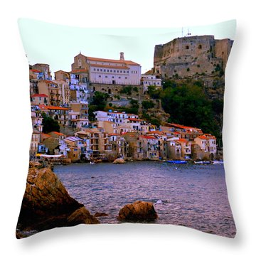 Scylla Italy Throw Pillow