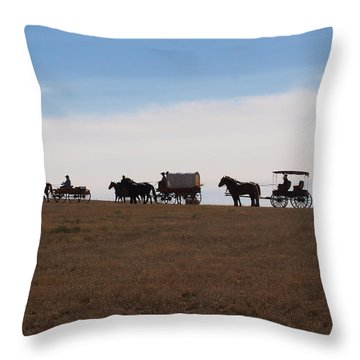 Sd Wagon Train Throw Pillow