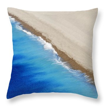 Sea And Sand Throw Pillow by Wendy Wilton