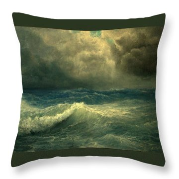 Throw Pillow featuring the painting Sea And Sky by Mikhail Savchenko