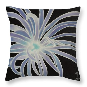 Throw Pillow featuring the painting Sea Anemone by Dianna Lewis