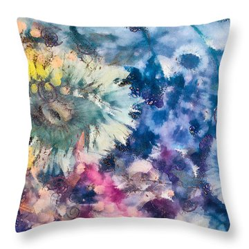 Sea Anemone Garden Throw Pillow