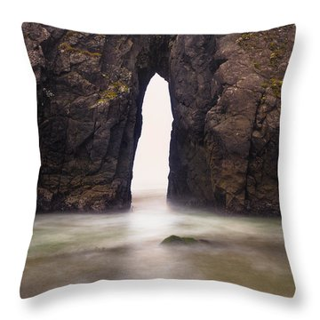 Sea Arch Throw Pillow