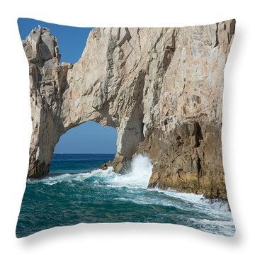 Sea Arch El Arco De Cabo San Lucas Throw Pillow