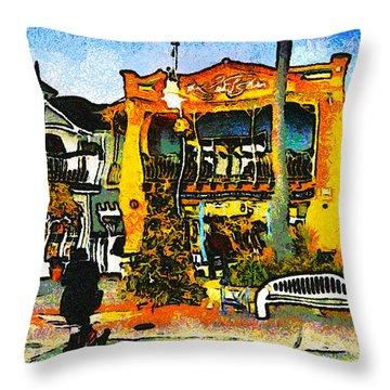 Sea Barn Avila Beach California Throw Pillow