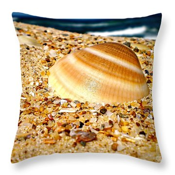 Sea Beyond The Shell Throw Pillow by Kaye Menner