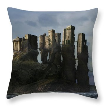 Sea Castle Throw Pillow
