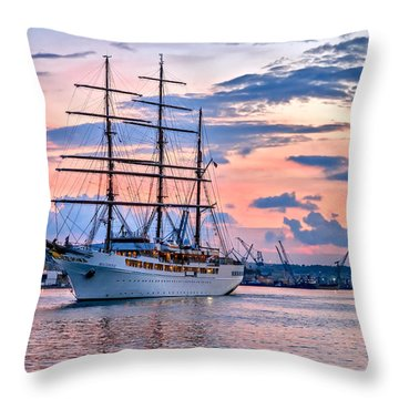 Sea Cloud II Throw Pillow