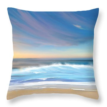 Throw Pillow featuring the digital art Sea Coast Escape by Anthony Fishburne