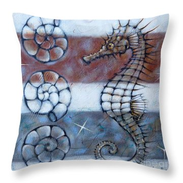 Throw Pillow featuring the painting Sea Dragon 280210 by Selena Boron