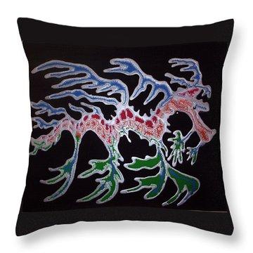 Sea Dragon Throw Pillow